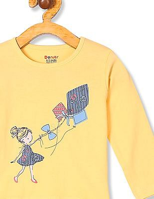 Donuts Girls Long Sleeve Graphic T-Shirt