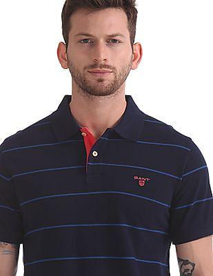 Gant 3-Col Pique Short Sleeve Rugger Polo Shirt