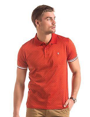 Izod Polka Dot Slim Fit Polo Shirt