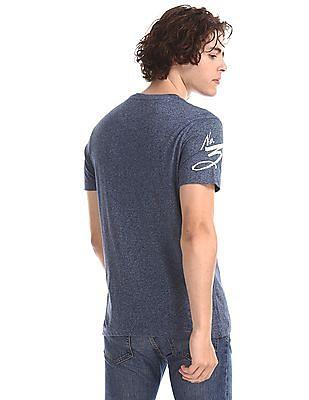 U.S. Polo Assn. Denim Co. Blue Heathered Henley T-Shirt