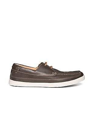 Johnston & Murphy Leather Boat Shoes