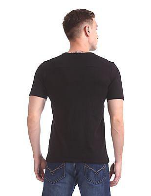 Colt Slim Fit Embossed Print T-Shirt