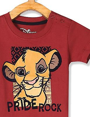 Colt Red Boys Lion King Print Cotton T-Shirt