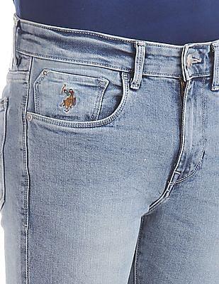 U.S. Polo Assn. Denim Co. Regallo Skinny Fit Acid Wash Jeans