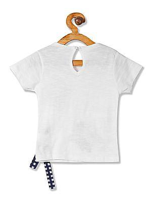 Cherokee Girls Embroidered Printed T-Shirt