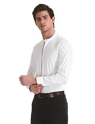 Excalibur Super Slim Fit Mandarin Collar Shirt