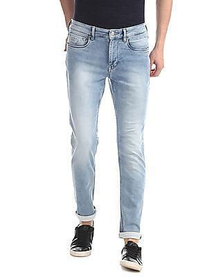 U.S. Polo Assn. Denim Co. Blue Brandon Slim Tapered Fit Faded Jeans