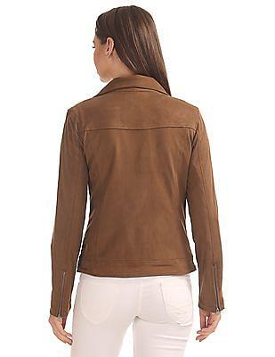 U.S. Polo Assn. Women Notch Lapel Suedette Jacket