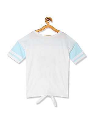 The Children's Place White Girls Tie Up Hem Embellished Top