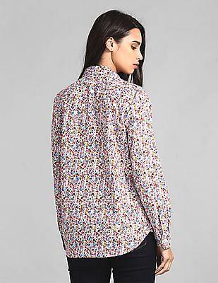 GAP Multi Colour Allover Print Boyfriend Shirt