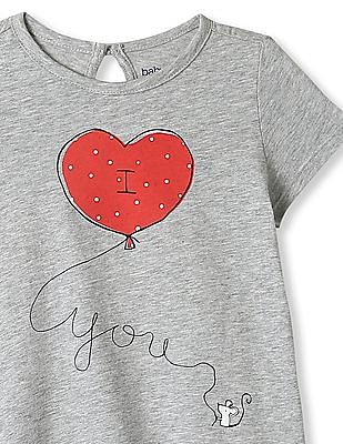 GAP Baby Graphic Keyhole Tee