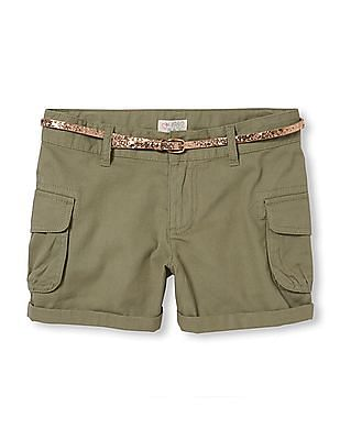 The Children's Place Girls Belted Cargo Shorts