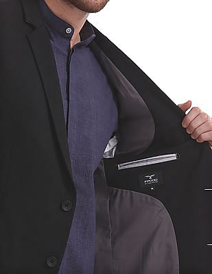 Flying Machine Slim Fit Single Breasted Blazer