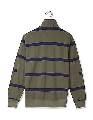 U.S. Polo Assn. Denim Co. High Neck Striped T-Shirt