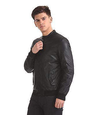 Arrow Sports Panelled Faux Leather Jacket