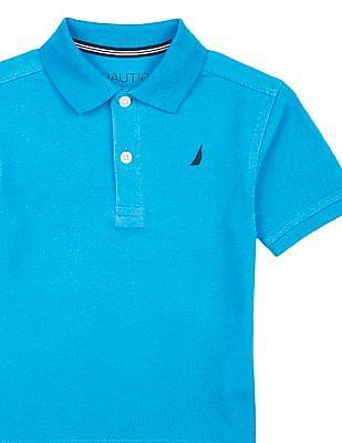 Nautica Kids Boys Short Sleeve Pique Polo Shirt