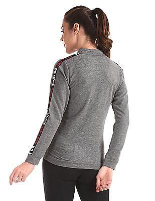 SUGR Grey Zip Up Active Sweatshirt