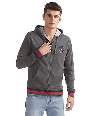 Izod Zip Up Solid Sweatshirt
