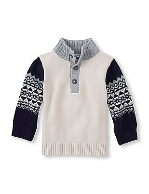 The Children's Place Toddler Boy Fairisle Buttoned Sweater