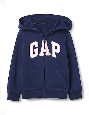 GAP Blue Toddler Girl Logo Hoodie Sweatshirt