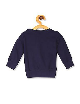Donuts Blue Girls Crew Neck Flippy Sequin Sweatshirt