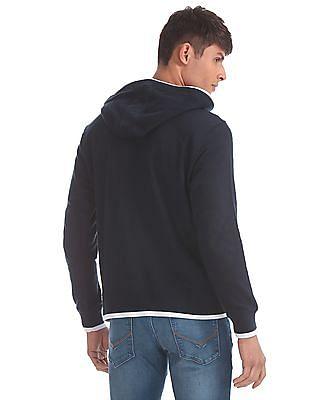 U.S. Polo Assn. Blue Tipped Trim Hooded Sweatshirt