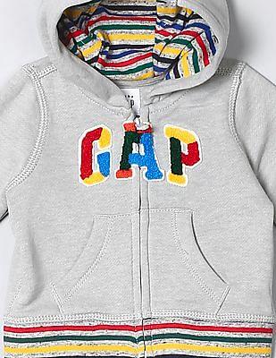 GAP Baby Striped Hooded Sweatshirt