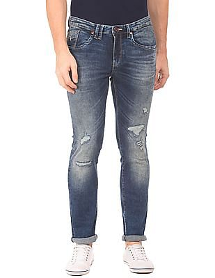 Flying Machine Low Rise Distressed Jeans