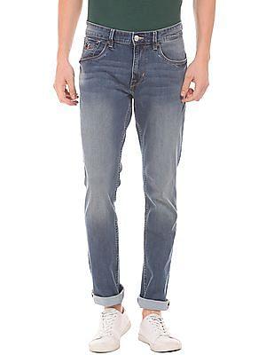 U.S. Polo Assn. Denim Co. Slim Straight Fit Stone Wash Jeans
