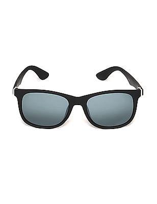 SUGR Metallic Accent Square Frame Sunglasses