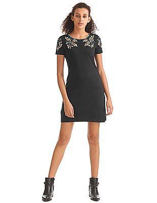 Elle Sequin Embellished T-Shirt Dress