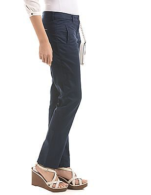 Arrow Woman Flat Front Slim Fit Trousers