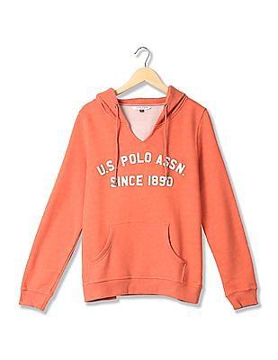 U.S. Polo Assn. Women Regular Fit Appliqued Sweatshirt