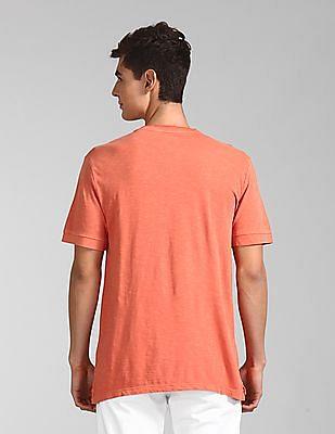 GAP Orange Vintage Slub Jersey Henley