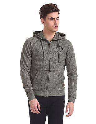 Flying Machine Slim Fit Hooded Sweatshirt