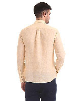 U.S. Polo Assn. Leaf Print Linen Blend Shirt
