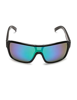 Flying Machine Mirrored Wrap Sunglasses
