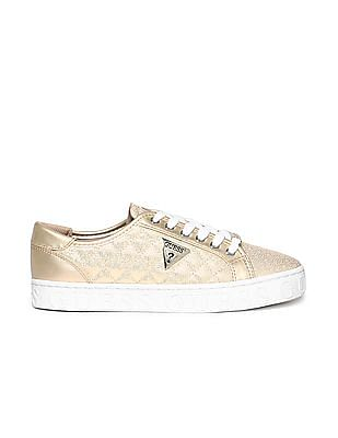 GUESS Lace Up Quilted Sneakers