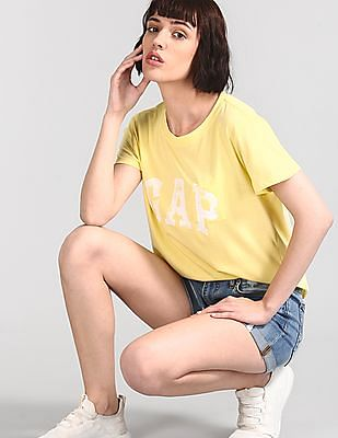 GAP Yellow Logo Pocket T-Shirt