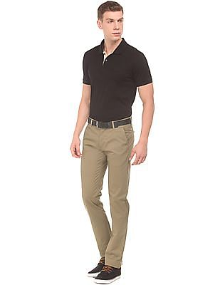 Arrow Sports Printed Slim Fit Trousers