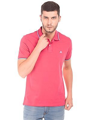 f6a29ae041b802 Buy Men Tipped Pique Polo Shirt online at NNNOW.com