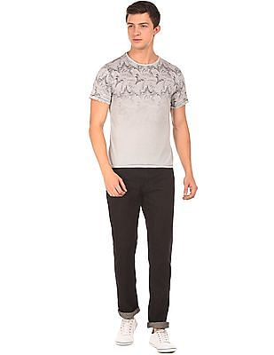 Cherokee Distressed Print Regular Fit T-Shirt