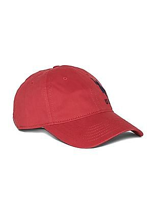 U.S. Polo Assn. Red Embroidered Logo Twill Cap