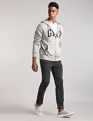 GAP Grey Logo Hooded Sweatshirt