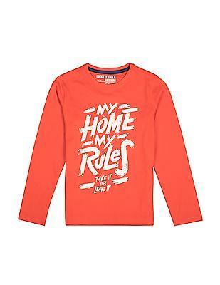 FM Boys Long Sleeve Round Neck T-Shirt