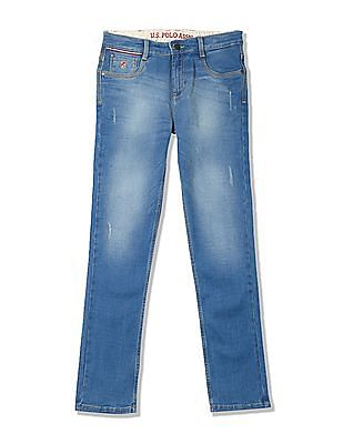 U.S. Polo Assn. Kids Boys Slim Fit Mid Rise Jeans