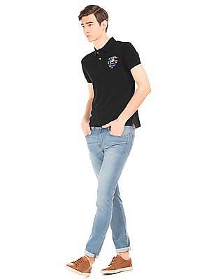 U.S. Polo Assn. Denim Co. Solid Regular Fit Polo Shirt