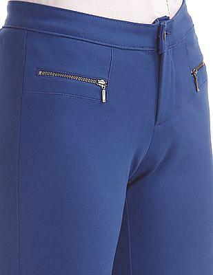 Elle Mock Zipper Knit Pants