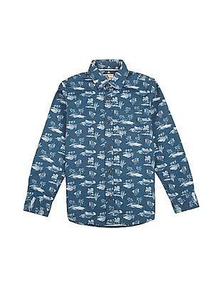 FM Boys Boys Printed Shirt