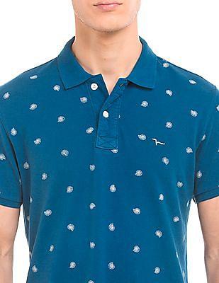 Flying Machine Regular Fit Printed Polo Shirt